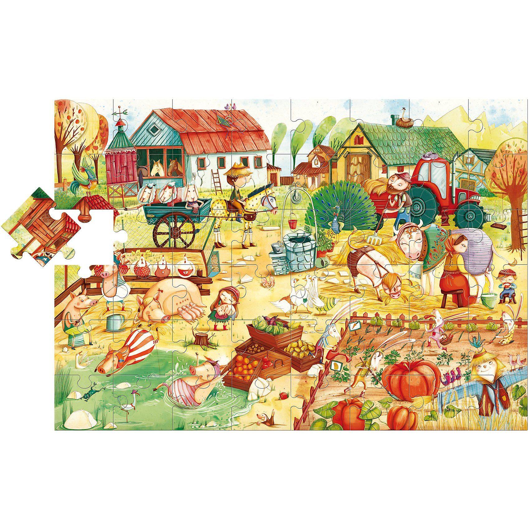 Lisciani Großes Bodenpuzzle - Bauernhof - 48 Teile