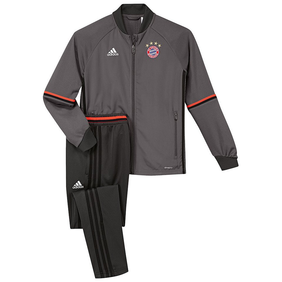 adidas Performance FC Bayern Trainingsanzug in grau