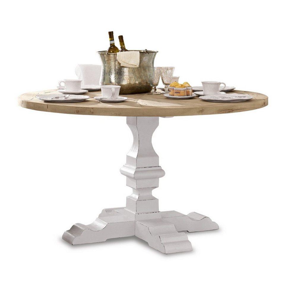 Loberon Tisch »Sturbridge« in braun/weiß