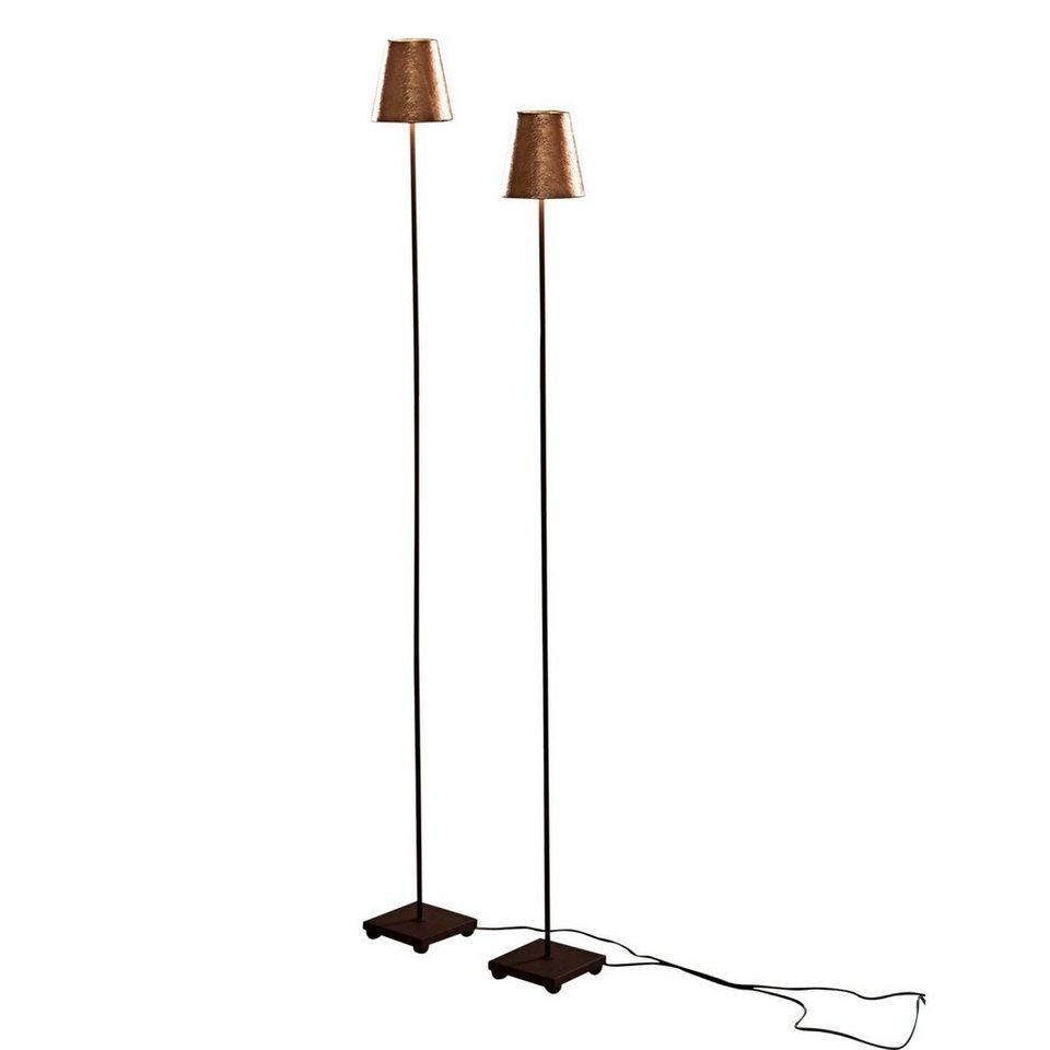 Loberon Stehlampe 2er-Set »Tacoma« in antikgold/schwarz