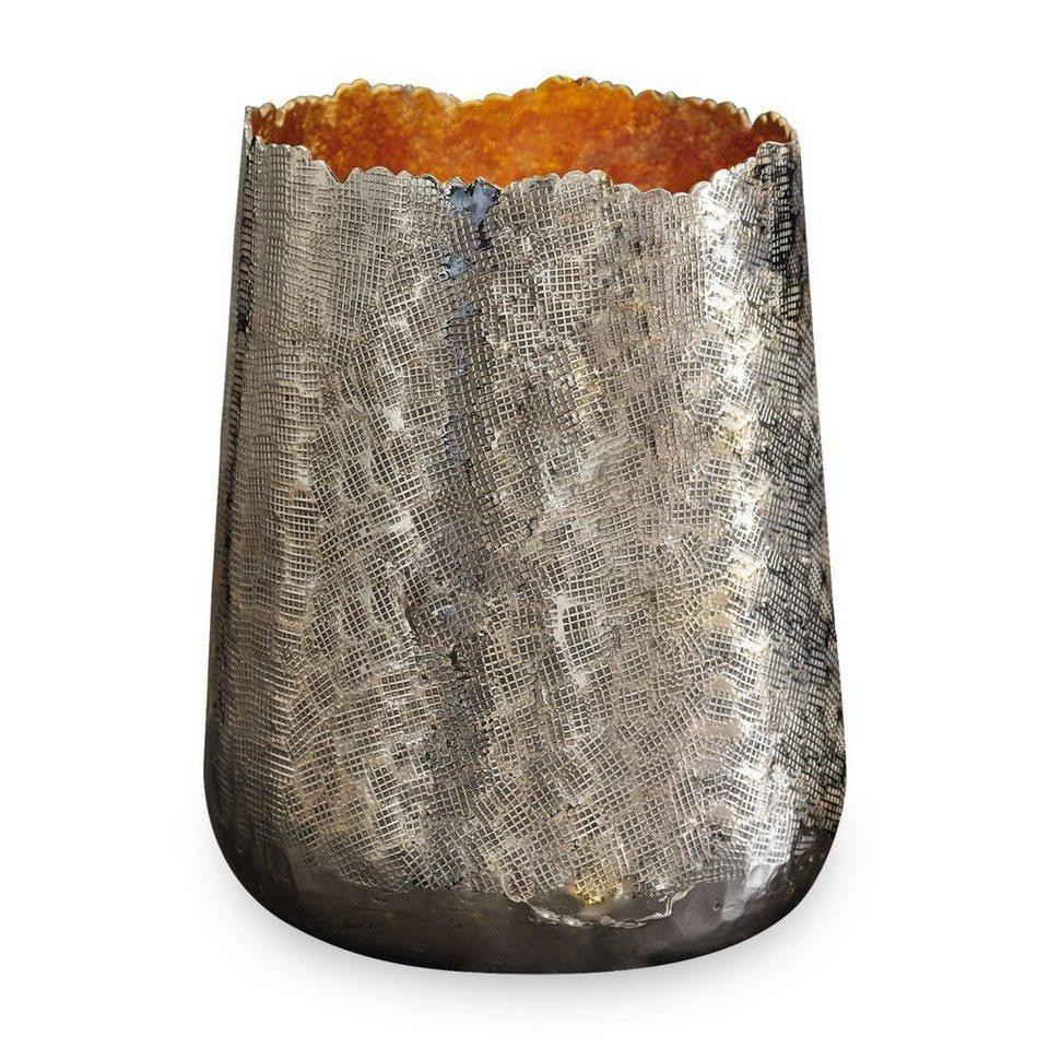 Loberon Windlicht »Odile« in silber/gold