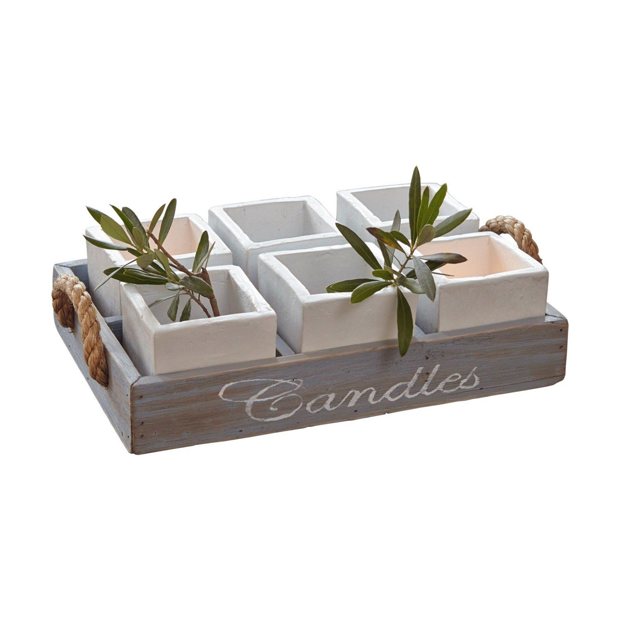 Loberon Tablett »Candles«