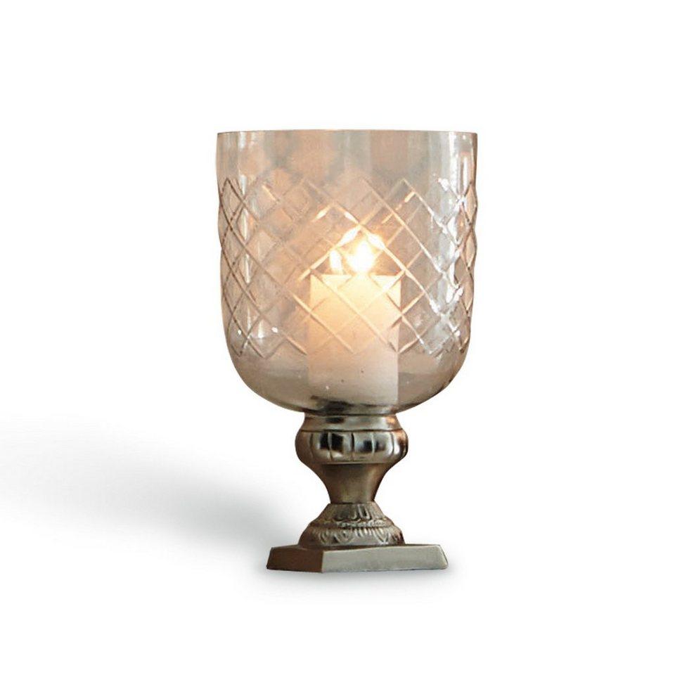 Loberon Windlicht »Barville« in klar/silber