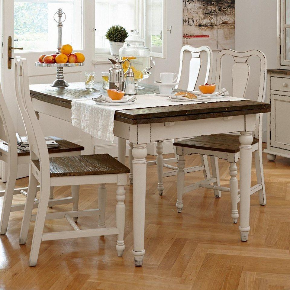 Loberon Stuhl »Harry« in weiß/natur