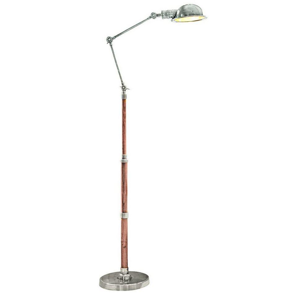 Loberon Stehlampe »Memphis« in antiksilber/braun