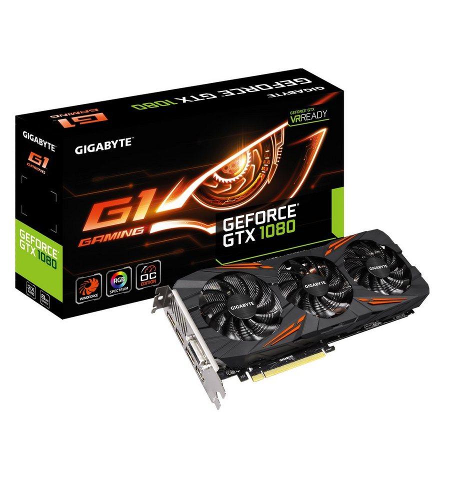 GIGABYTE Grafikkarte NVIDIA GeForce® GTX 1080 8GB GDDR5X »GV-N1080G1 GAMING-8G«