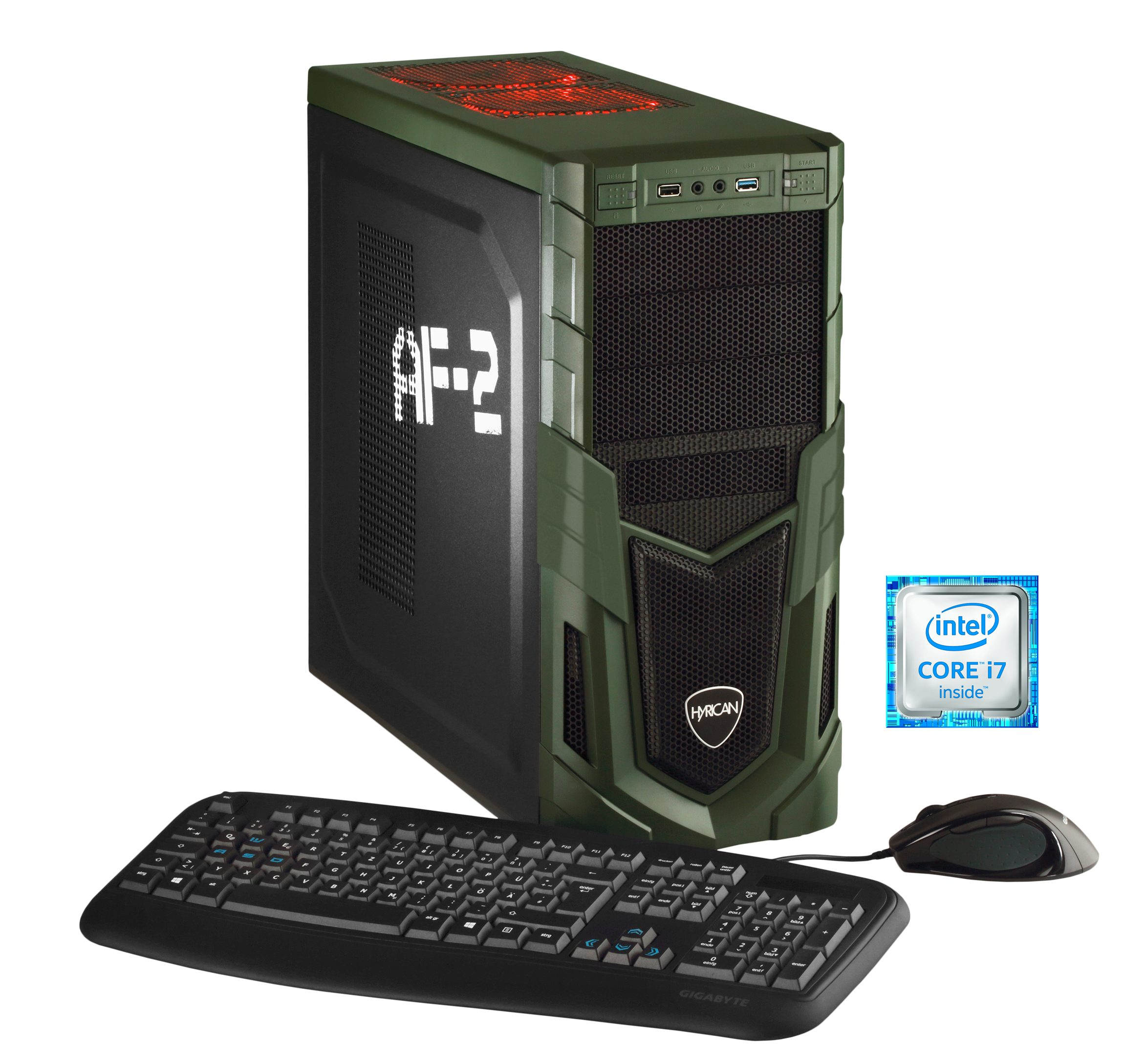 Hyrican Gaming PC Intel® i5-6600, 16GB, 1TB, 250GB SSD, Radeon™ RX 480 »Military Gaming 5218«