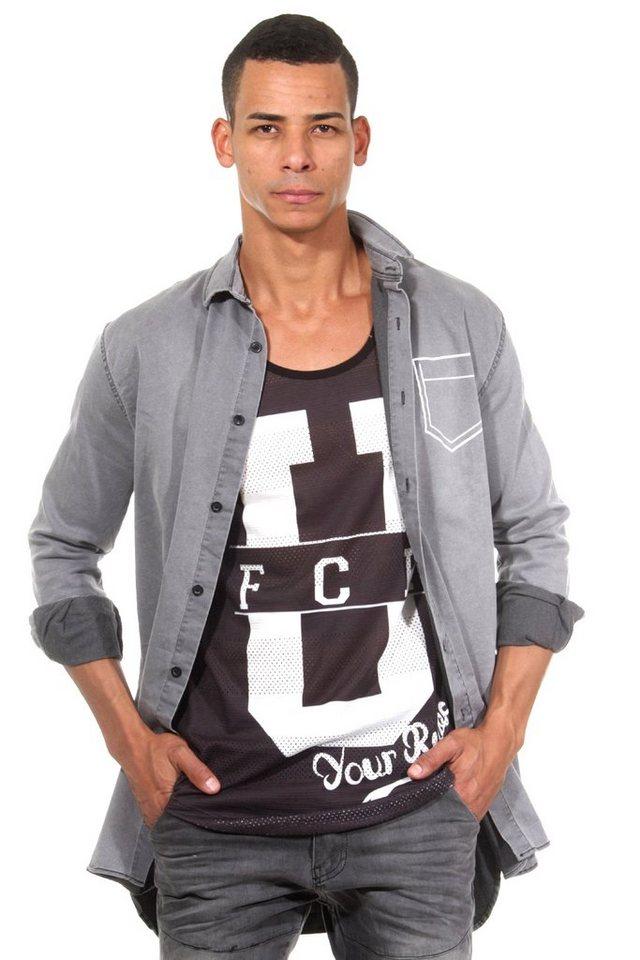 CATCH Langarmhemd in grau