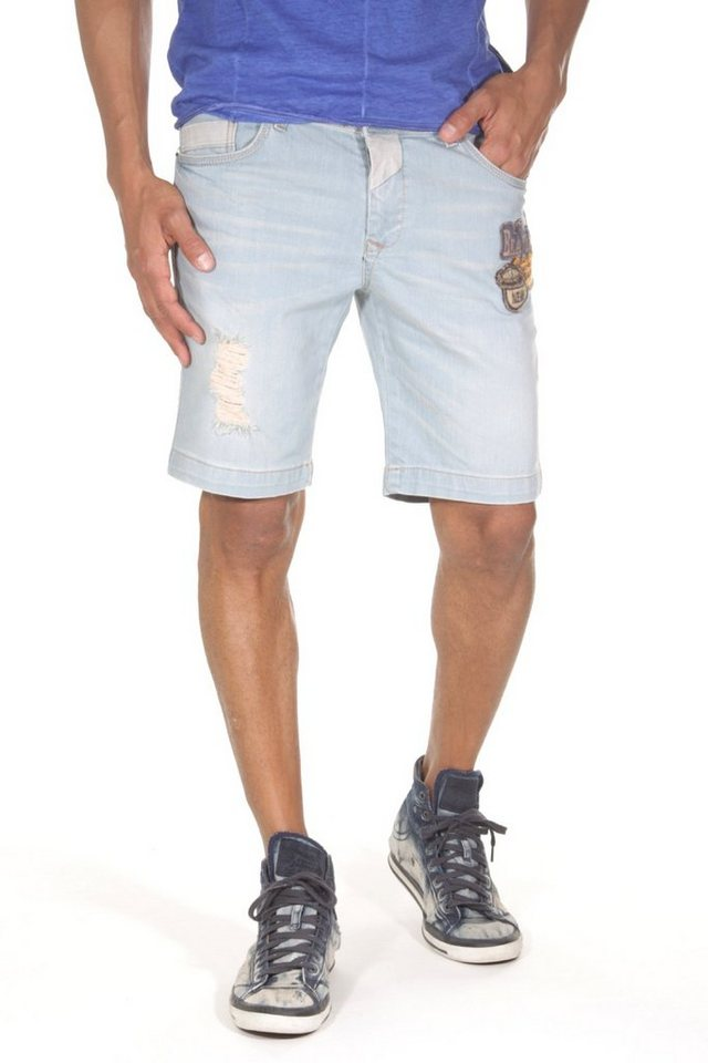 CATCH Denim Shorts in hellblau