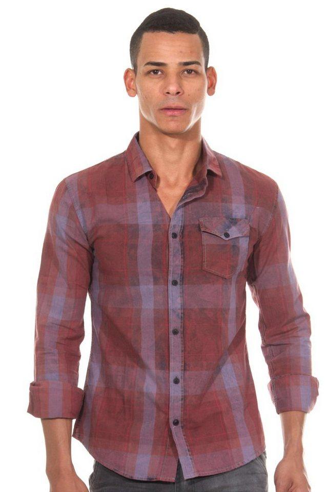 CATCH Langarmhemd in bordeaux