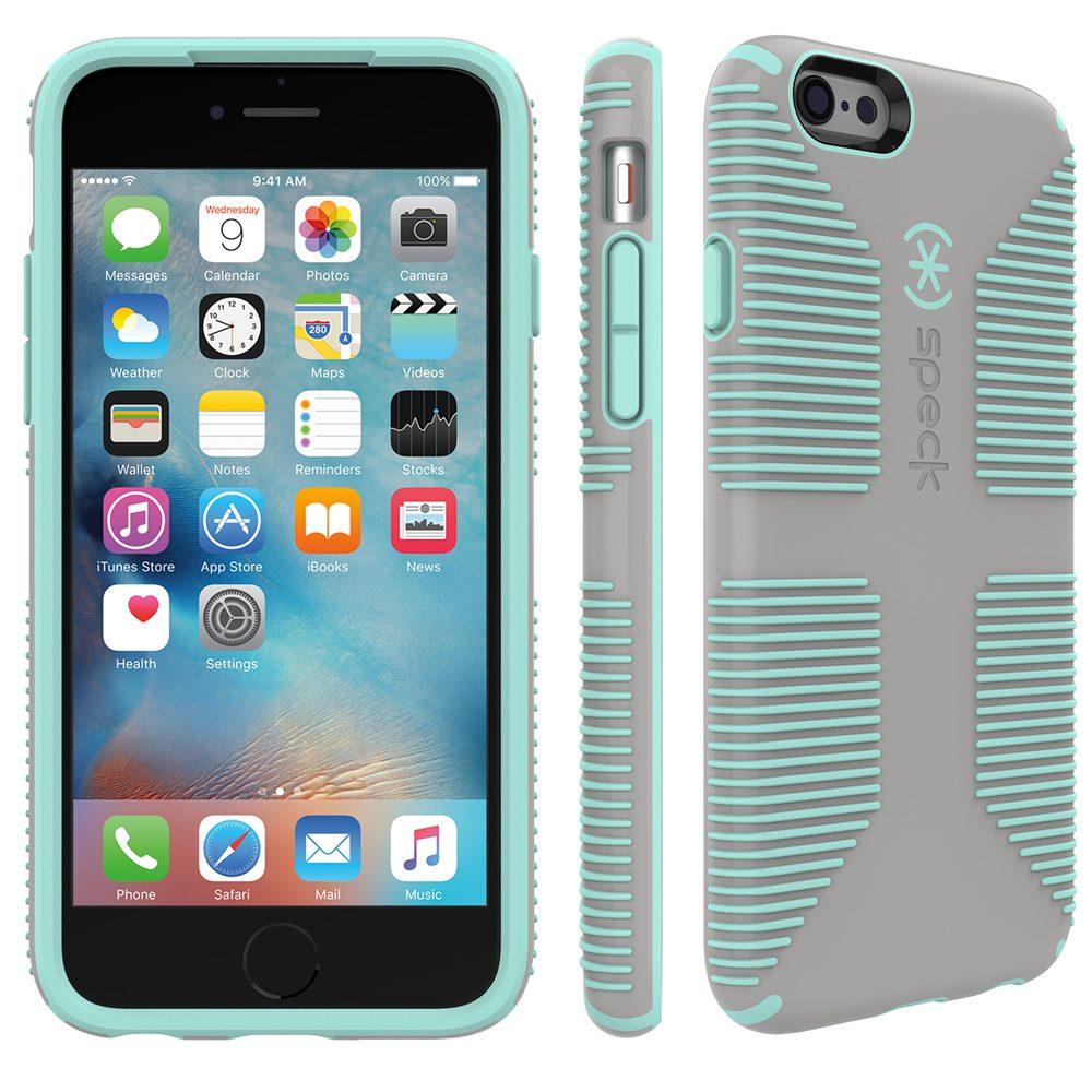 "Speck HardCase »CandyShell Grip iPhone (6/6S) 4.7"" SAND GREY/ALOE «"