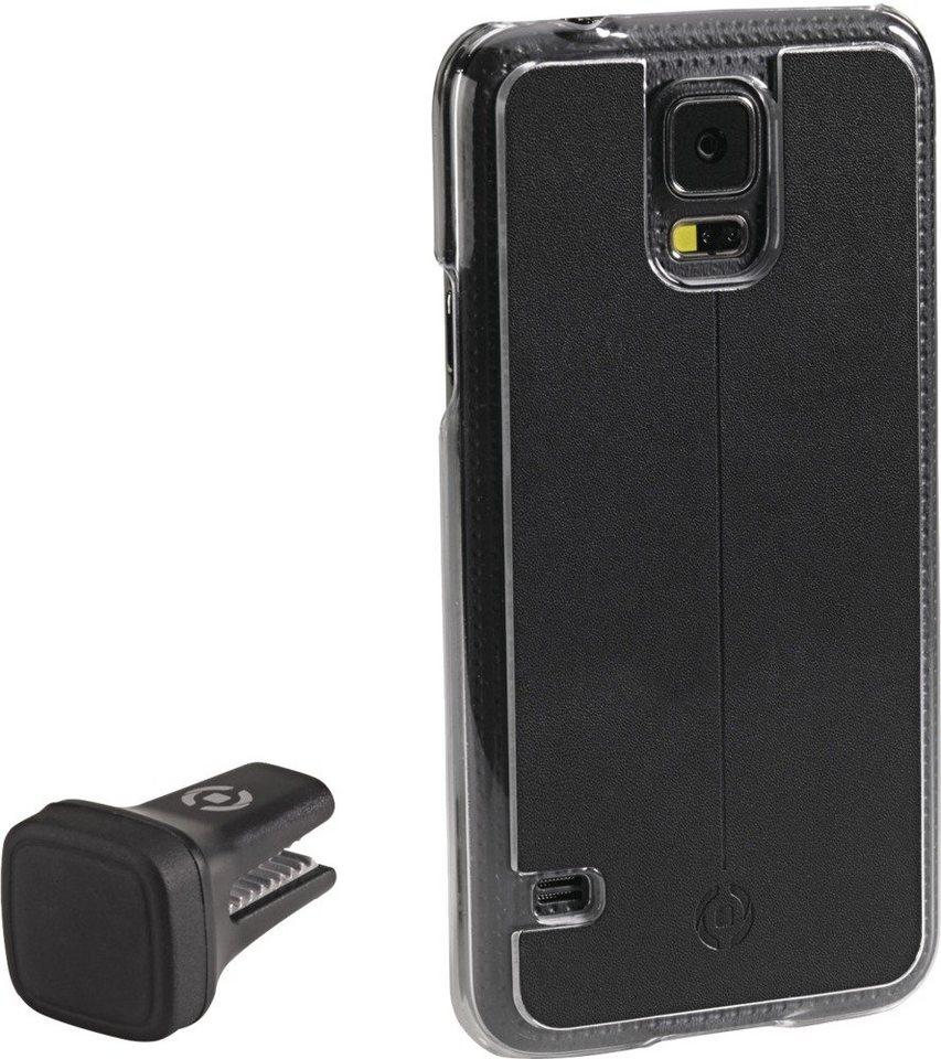 Celly Handyhülle mit Vent-Clip für das Galaxy S5 »Smart Drive« in schwarz