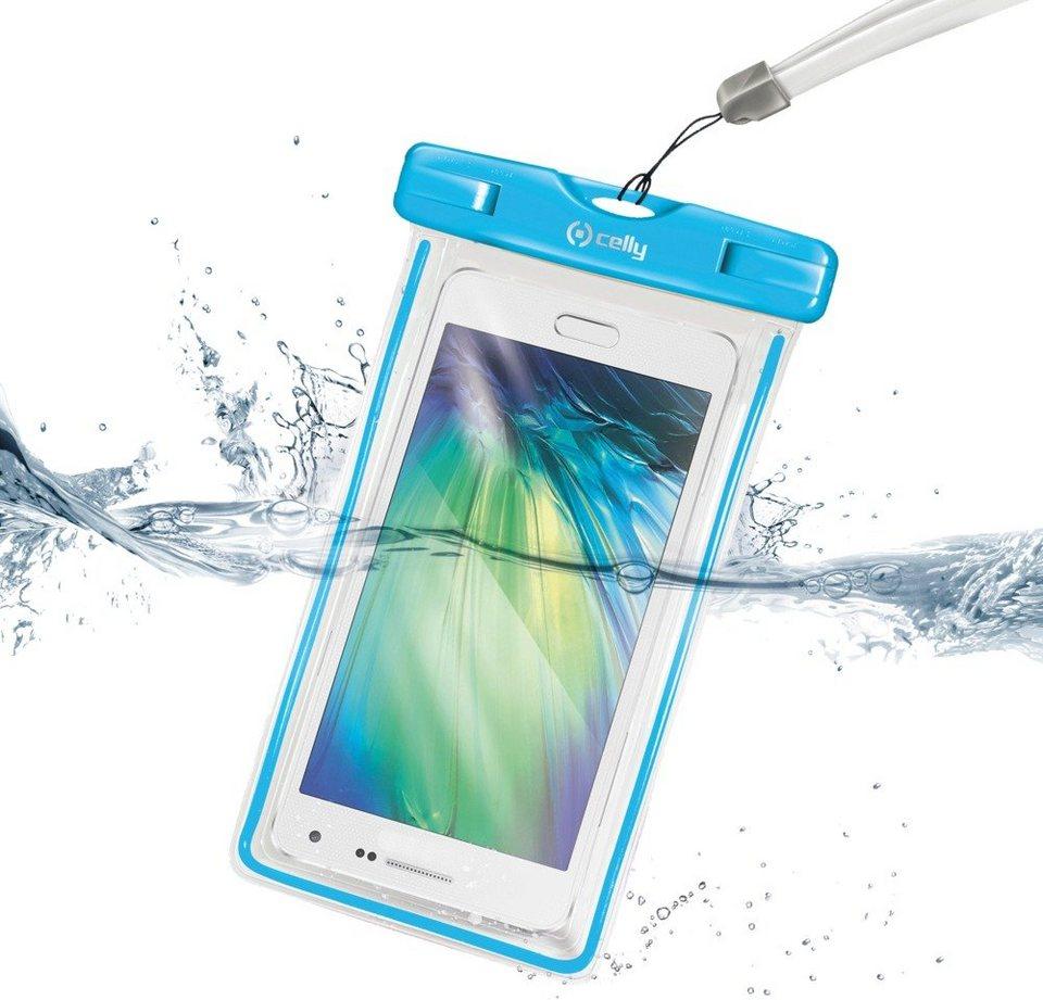 Celly Universelle Strandhülle für Smartphones »Splash« in blau