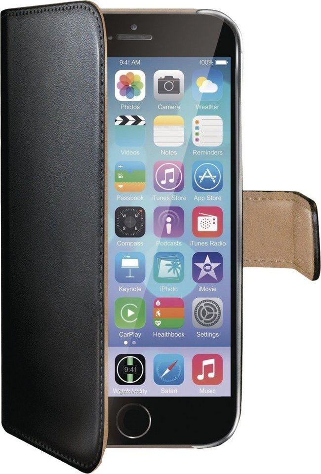 Celly Kunstledertasche passend für das iPhone 6/6s »Wally Case« in schwarz