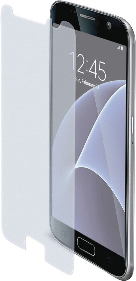 Celly Sehr dünne, matte Displayschutzfolie für das Galaxy S7 »Tempered Glass« in transparent