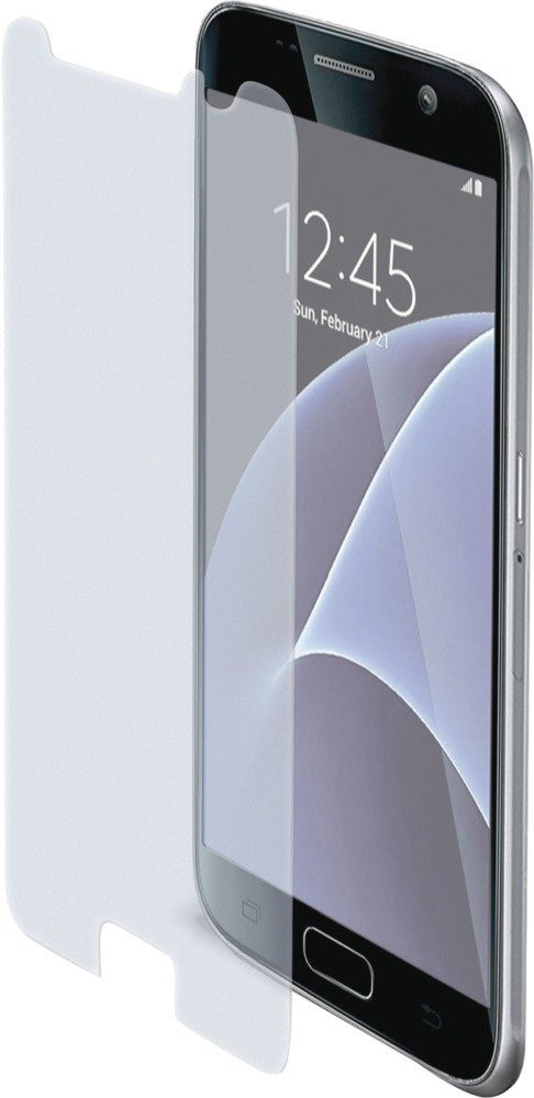 Celly Sehr dünne, matte Displayschutzfolie für das Galaxy S7 »Tempered Glass«
