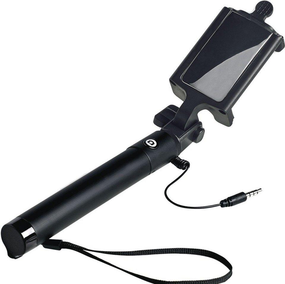 Celly Teleskopstativ mit universeller Smartphonehalterung »Spiegel-Selfiestick« in schwarz