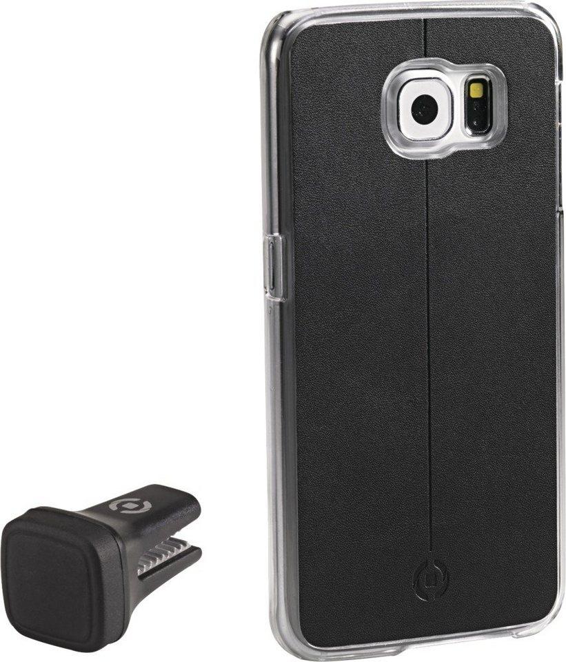 Celly Handyhülle mit Vent-Clip für das Galaxy S6 »Smart Drive« in schwarz