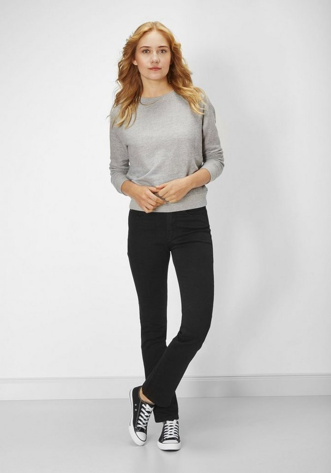 PADDOCK'S High-waist Stretch Jeans »KATE« in black/black