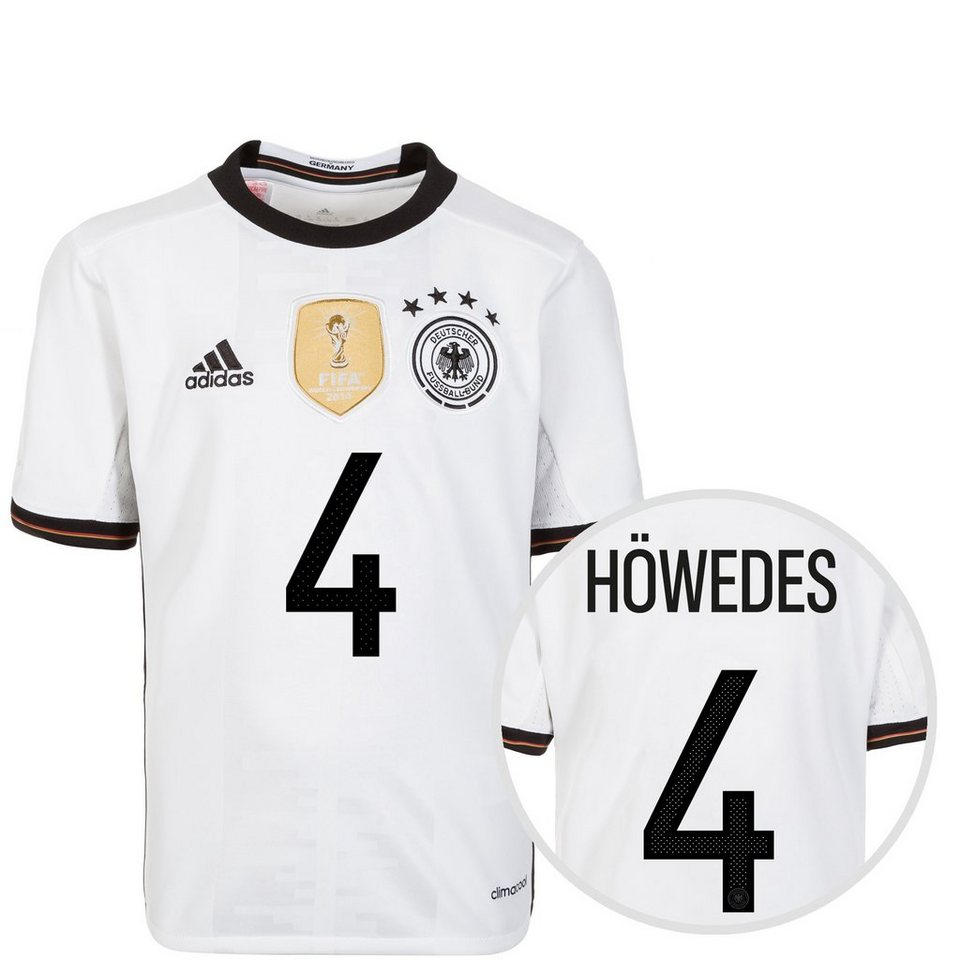 adidas Performance DFB Trikot Home Höwedes EM 2016 Kinder in weiß / schwarz
