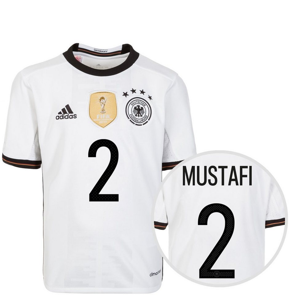 adidas Performance DFB Trikot Home Mustafi EM 2016 Kinder in weiß / schwarz