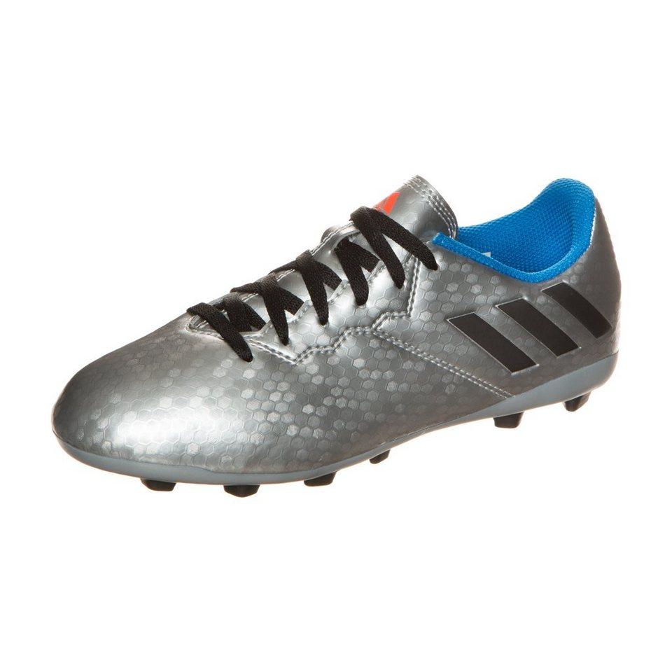 adidas Performance Messi 16.4 FxG Fußballschuh Kinder in silber / schwarz