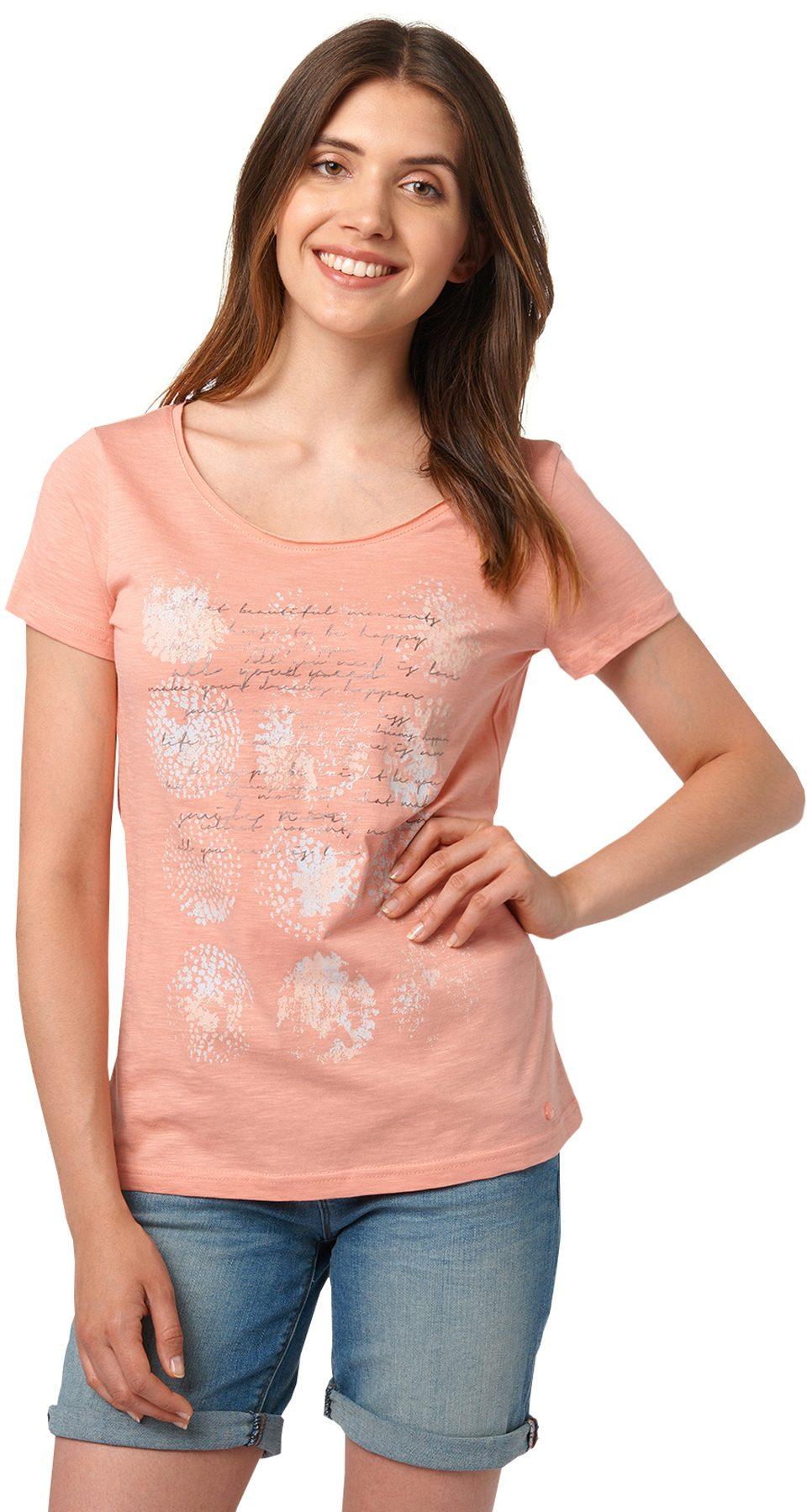 TOM TAILOR T-Shirt »sommerliche T-Shirt mit Print«