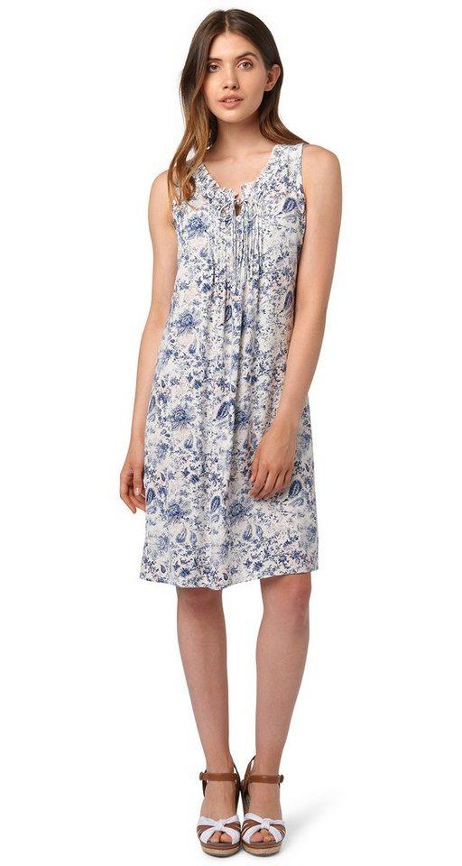 TOM TAILOR Kleid »feminines Sommer-Kleid mit Rüschen« in whisper white