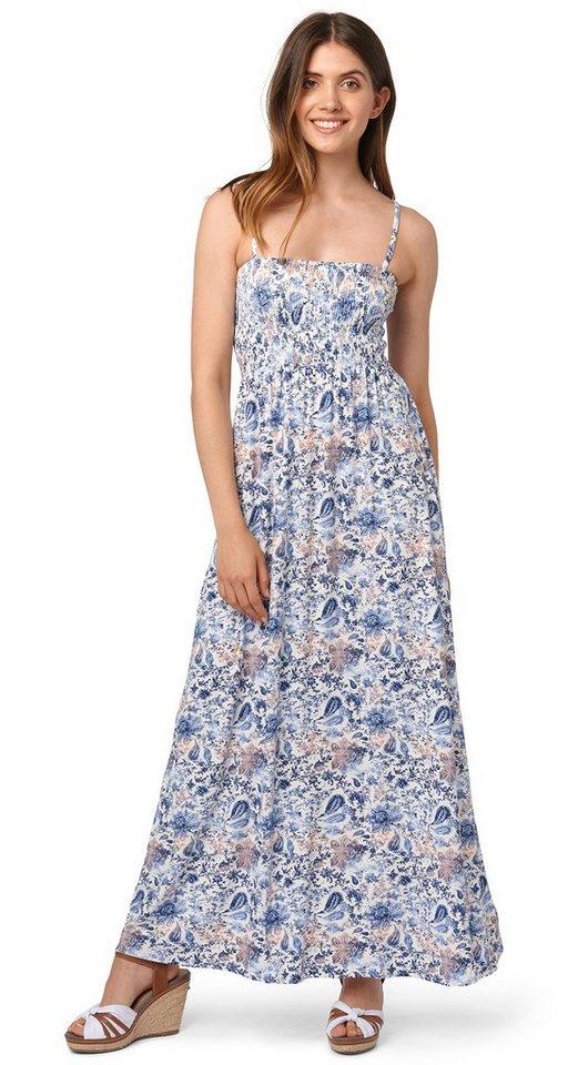 TOM TAILOR Kleid »Bandeau-Kleid in Maxi-Länge« in whisper white