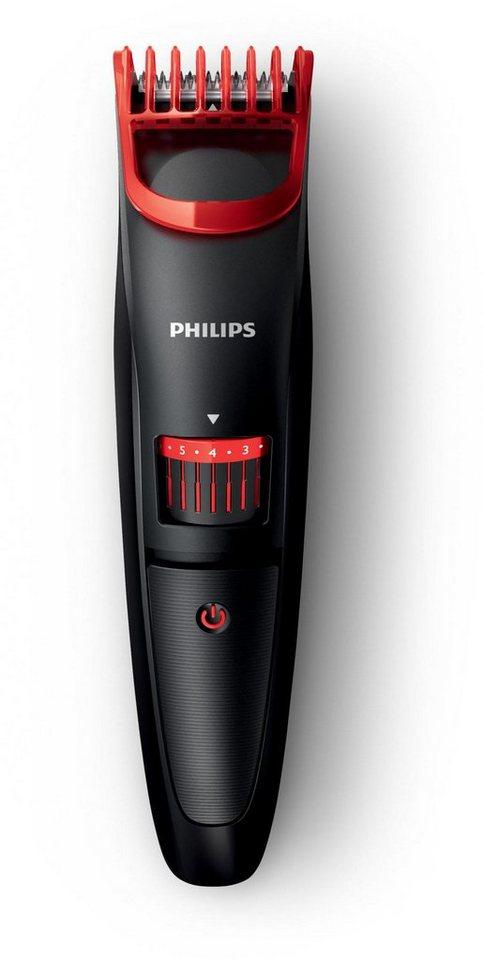 Philips Bartschneider Series 1000 BT405/15 in schwarz/rot