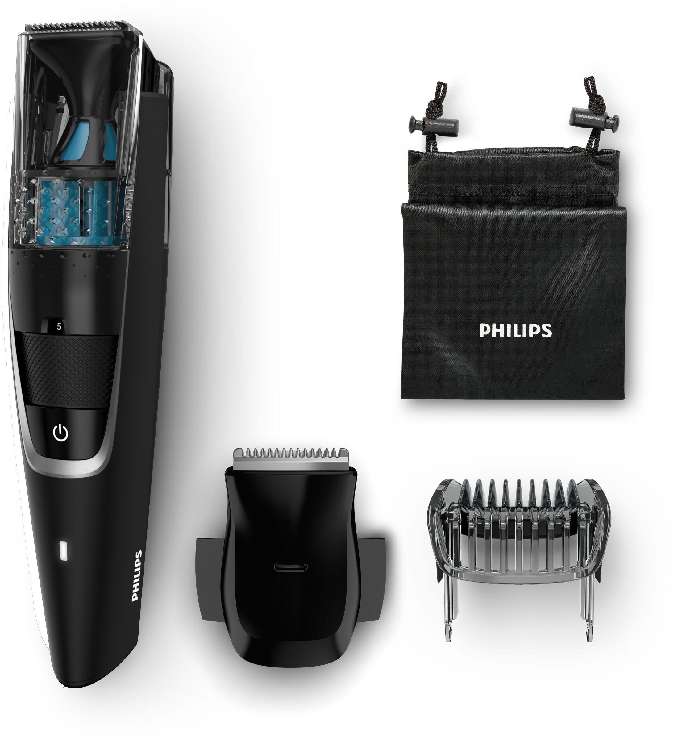Philips Bartschneider Series 7000 BT7205/15, integriertes Vacuum System