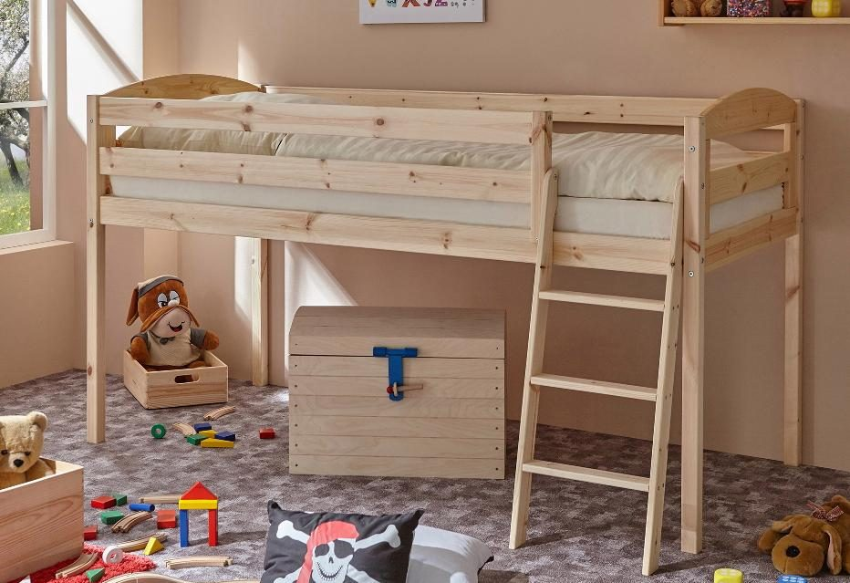 Etagenbett Kiefer Massiv : Hochbett kiefer lifetime kinderbett in massiv
