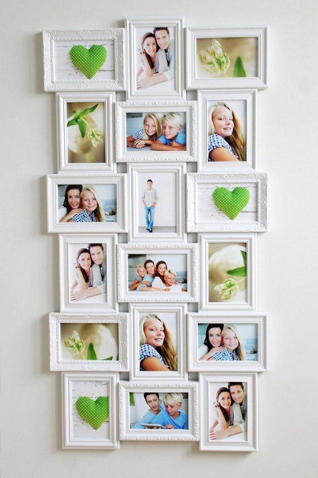 Home affaire Galerierahmen für 18 Bilder in weiß