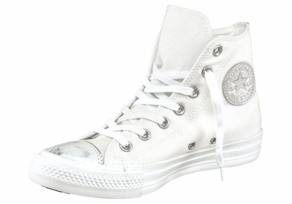 Converse Sneaker »Chuck Taylor All Star Brush Off Toecap« in weiß-silberfarben