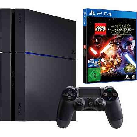 PlayStation 4 (PS4) 500GB + LEGO Star Wars: Das Erwachen der Macht Konsolen-Set mit 3 Jahren Garantie*