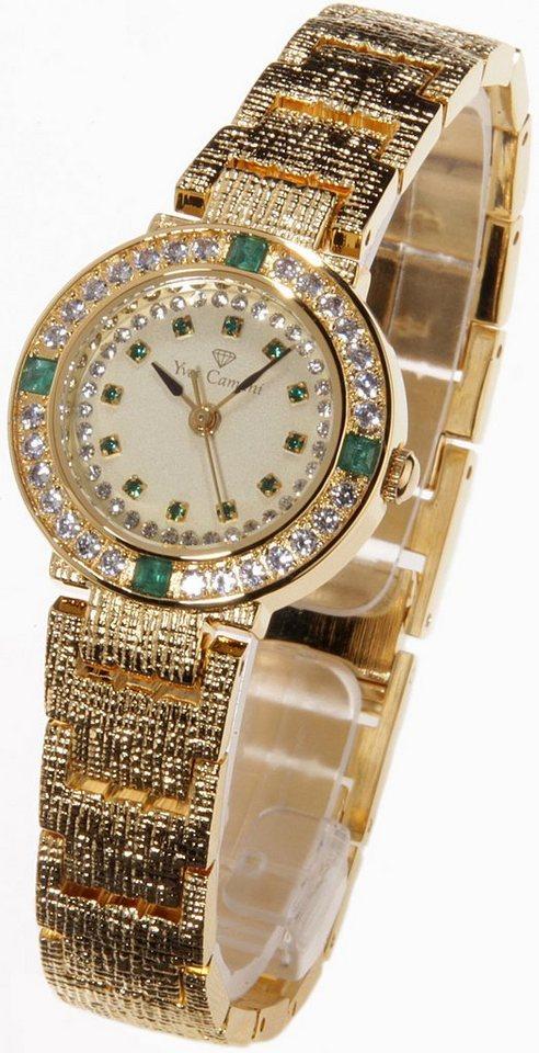 Yves Camani Quarzuhr »Lady Emerald, L-31051GP-E« in goldfarben