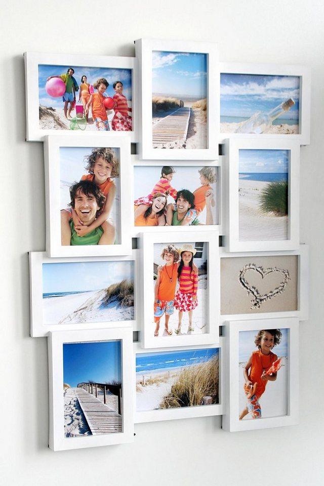 Home affaire Galerierahmen für 12 Bilder in weiß