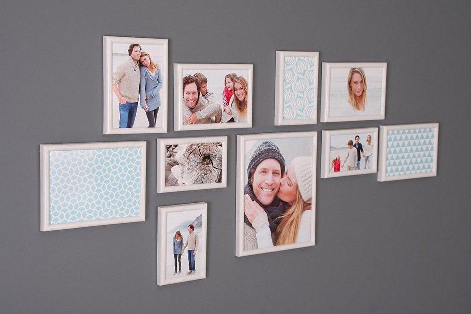 Home affaire Portraitrahmen »Creativ« (10-tlg.) in weiß