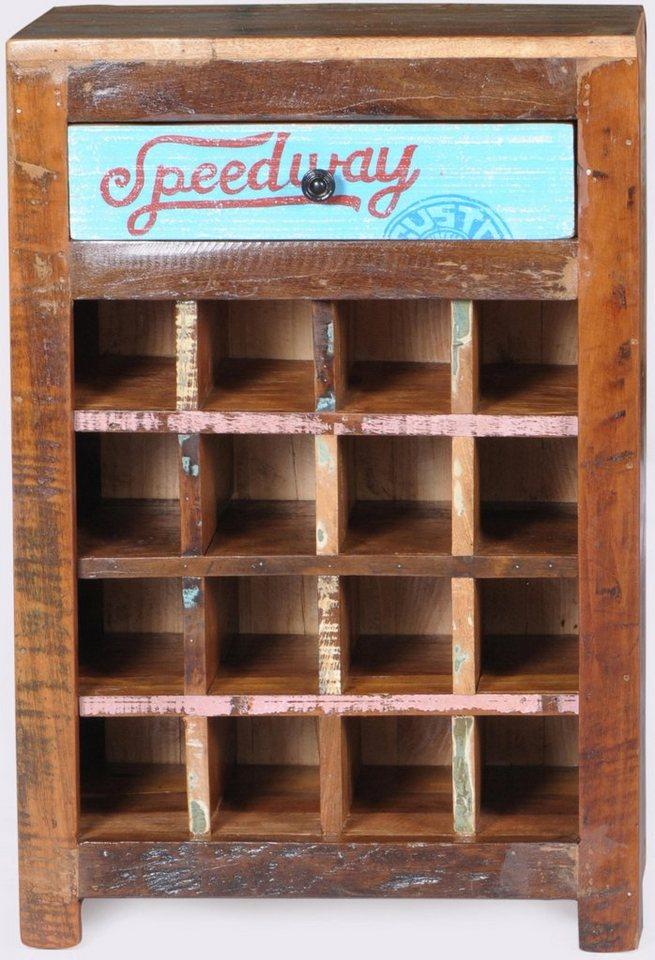 SIT Weinregal »Speedway«, Breite 58 cm in braun/bunt