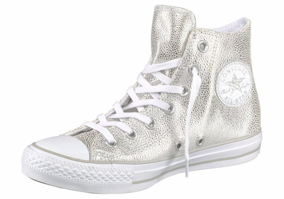 Converse Sneaker »Chuck Taylor All Star Sting Ray Leather« in silberfarben