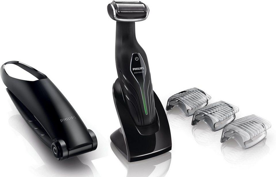Philips Männerkörper-Rasierer Series 5000 BG2036/32 , Bodygroom Plus in schwarz/silber