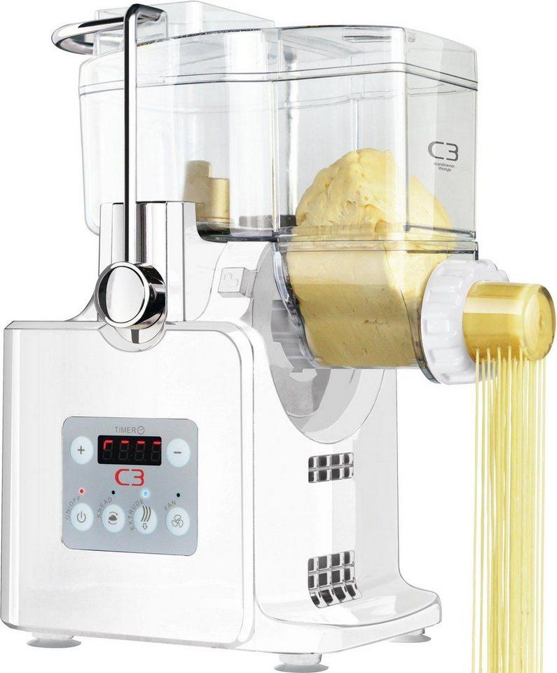 C3 Basta Pasta 30-10705 vollautomatische Nudelmaschine mit Gebläse, weiß in weiß
