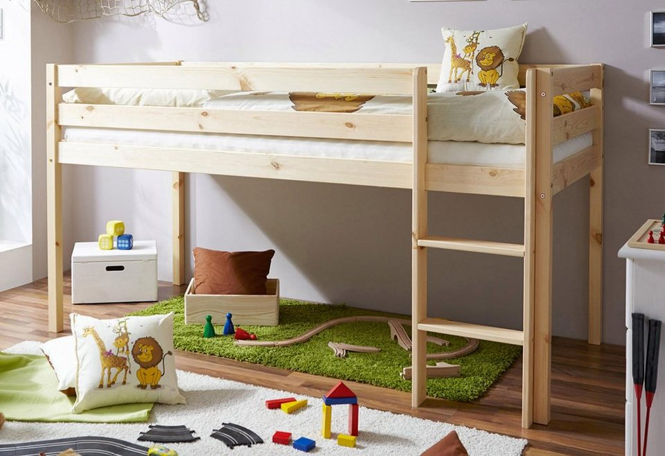 ticaa hochbett kiefer malte online kaufen otto. Black Bedroom Furniture Sets. Home Design Ideas