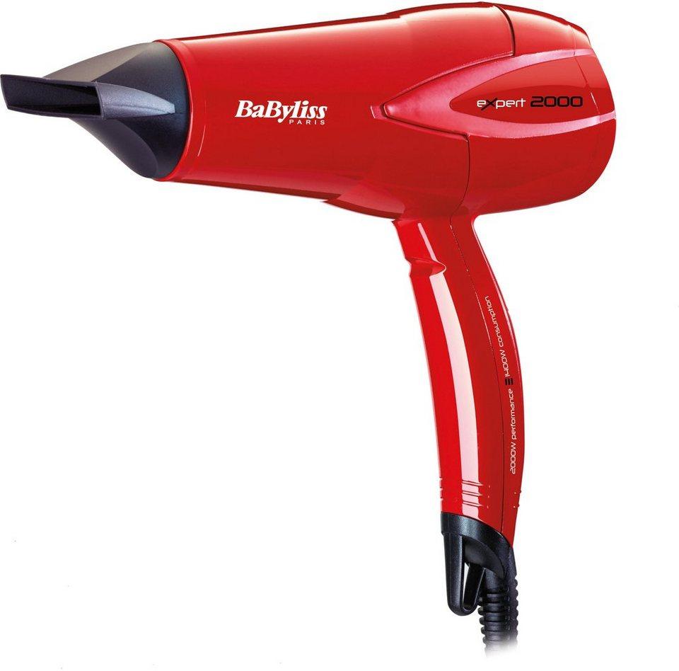 Babyliss Haartrockner EXPERT PLUS D302RE, Energieeinsparung von 25% in rot