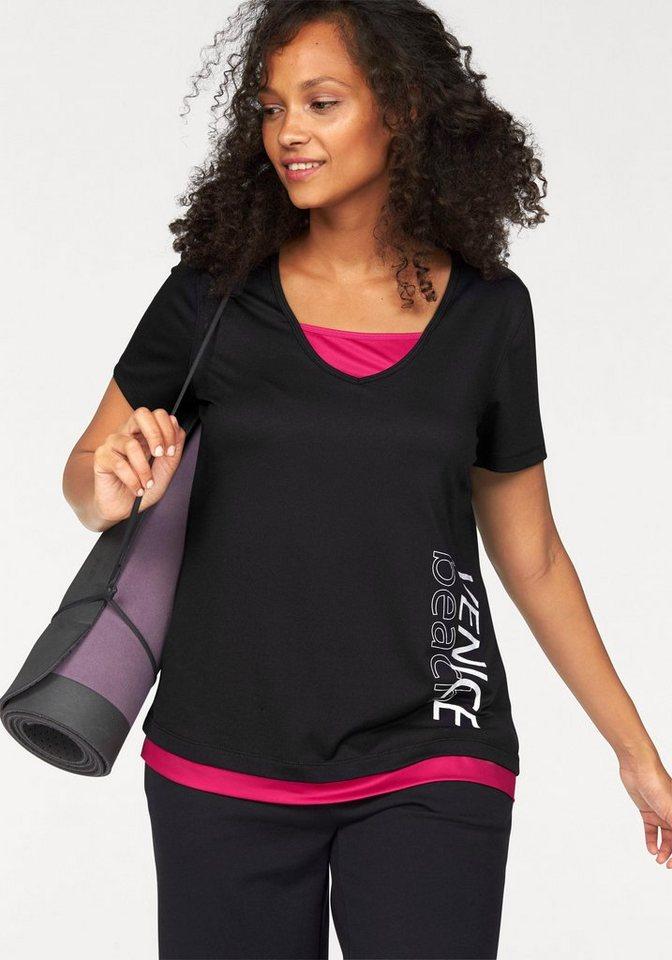 Venice Beach Funktions-T-Shirt in Schwarz