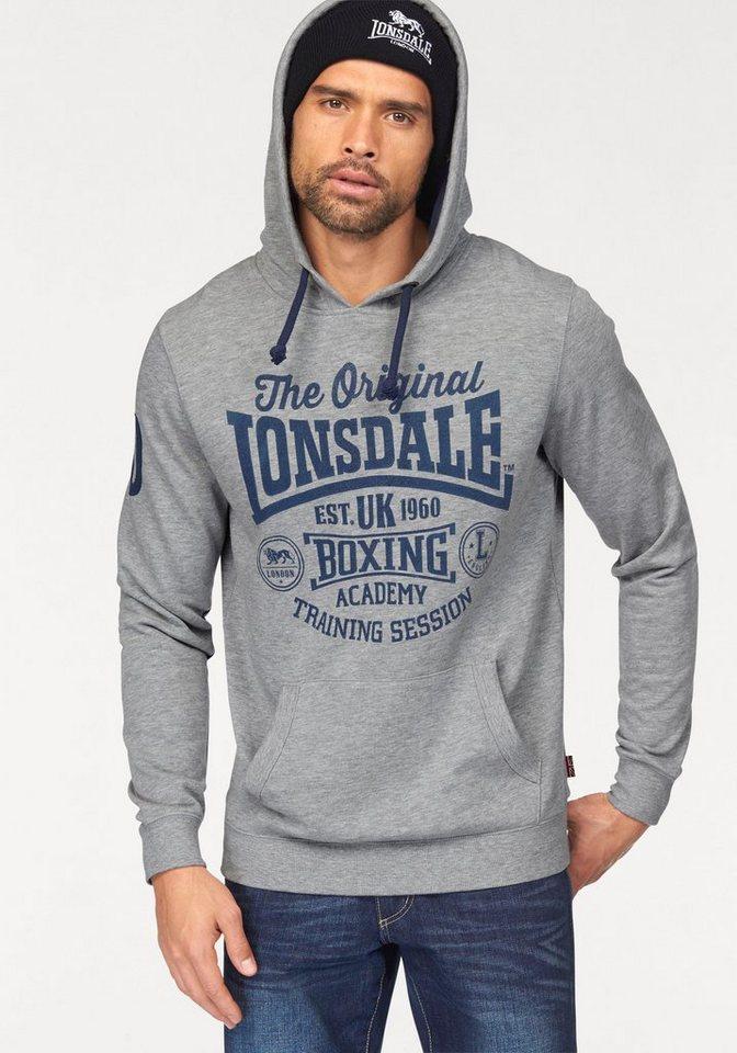 Lonsdale Hoodie in grau