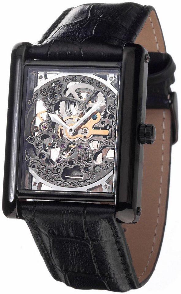 Yves Camani Automatikuhr »Julien Skelett, YC1022-C« in schwarz