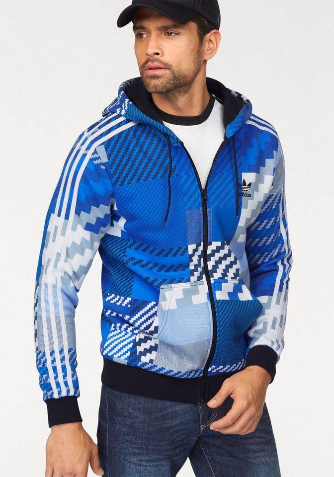 adidas Originals Sweatjacke in blau-bunt