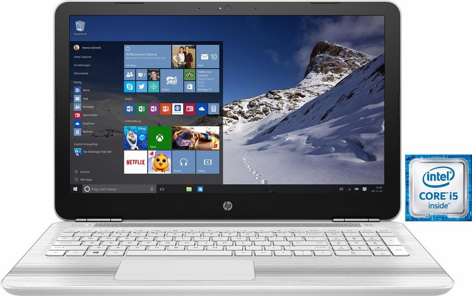 HP Pavilion 15-au11ng Notebook, Intel® Core™ i5, 256 GB Speicher, 8192 MB DDR4-SDRAM in weiß