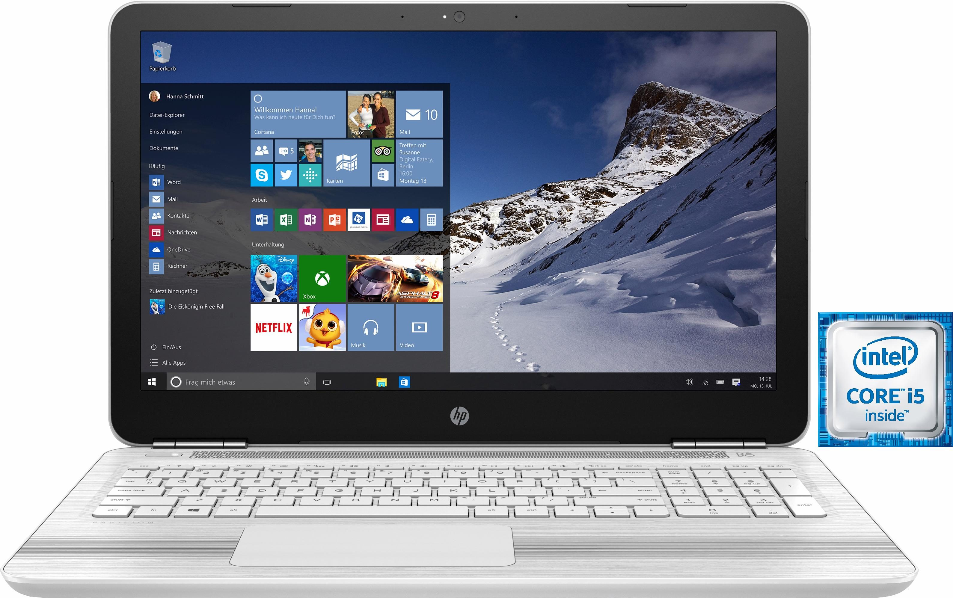 HP Pavilion 15-au11ng Notebook, Intel® Core™ i5, 256 GB Speicher, 8192 MB DDR4-SDRAM